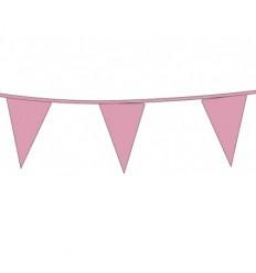 Vlaggenlijn baby rosé 10 meter plus minus