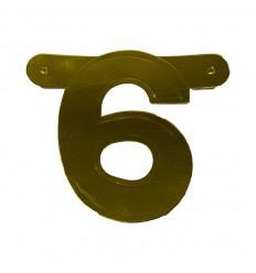 Banner cijfer 6 goud 1 pcs