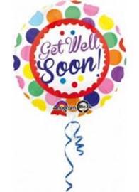 Folie ballon Get well  soon 18 inch 45 cm geleverd zonder helium