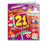 Verjaardagskaart 21 jaar