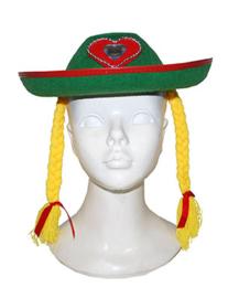 Felt hat met hair