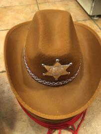 Cowboy hoed  Licht bruin