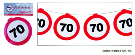 70 jaar verkeerslinger 12 meter 15 signs