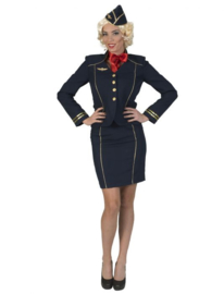 Flight Attendant Fiona Jacket Skirt hat scraf maat 36/38