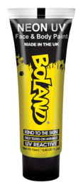 Hair Face Body paint 10 ml neon yellow