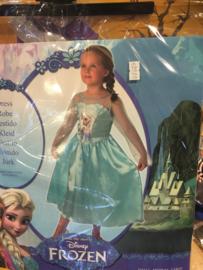 Frozen Dress blue maat 128