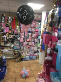 Gender Reveal Ballon Decoratie. Alleen in de winkel te bestellen en prijs op aanvraag.