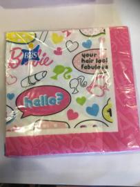 Barbie Servetten 33x33 20 stuks