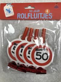 4 rolfluitjes 50 jaar