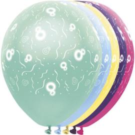 Ballonnen 8 jaar 5 stuks