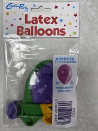 Ballonnen 6 stuks baby shower