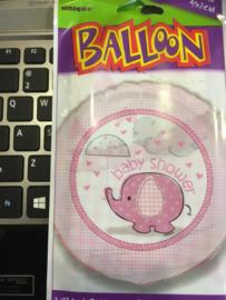 Baby Shower balloon 45 cm Geleverd zonder helium