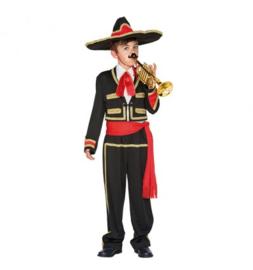 Mexicaan Jacket with falsh shirt, Pants, Sash, Hat maat 10-12 jaar