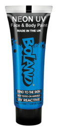 Hair Face Body paint 10 ml neon bleu