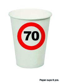 70 jaar: 8 paper cups