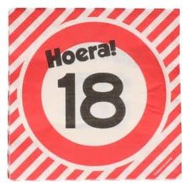 18 Jaar: 16 napkins plus minus 23 cm