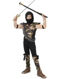 Army Ninja Filled Jumpsuit hood maat 116