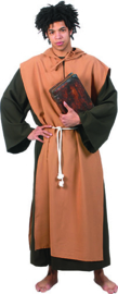 Medieval monk robe with hood belt maat 52/54