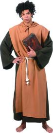 Medieval monk robe with hood belt maat 48/50