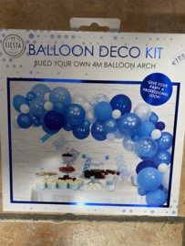 Decor ballonnen pakket blauw