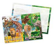 Safari uitnodigingskaarten 8 stuks