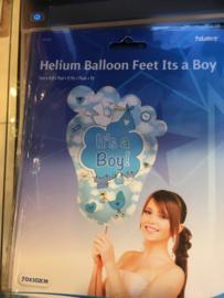 Baby boy  Wordt geleverd zonder helium 70x102 cm