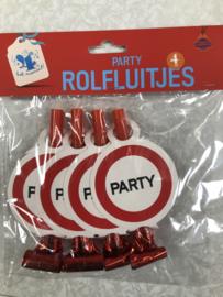4 rolfluitjes party
