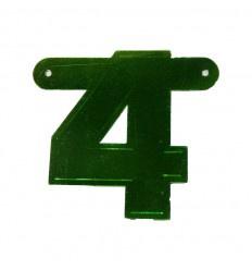 Banner cijfer 4 Groen 1 pcs