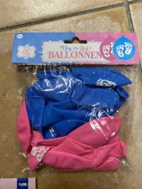 Ballonnen boy girl