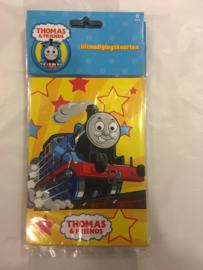 Thomas uitnodigingkaarten 6 stuks