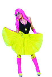 Neon yello skirt one size