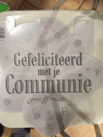 Schild gefeliciteerd met je communie