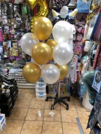 Ballonnen Deco goud wit
