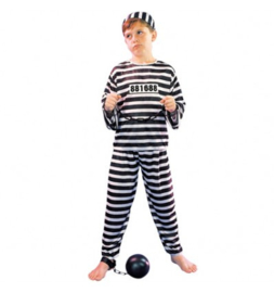 Boef Prisoner Shirt,pants.hat 10-12 jaar (maat 140/ 152)