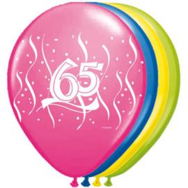 65 jaar ballonnen 8 stuks