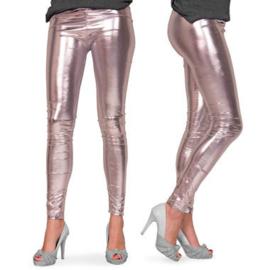Legging Metalic zilver maat L/XL