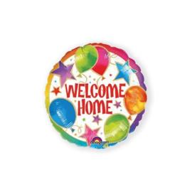 Folie ballon welcome home  18 inch 45 cm geleverd met helium af te halen in de winkel