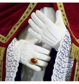 Handschoenen wit katoen luxe maat XL