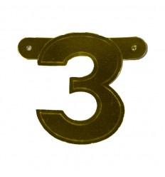 Banner cijfer 3 goud 1 pcs