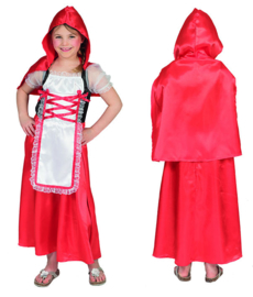 Classic Red Riding Hood dress cape maat 104