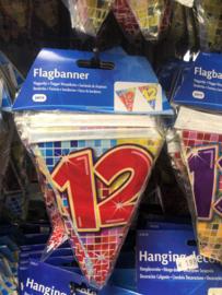 '12 jaar' vlaggenlijn 3 meter