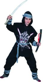 Fierce Ninja Shirt with hoofd Tunic pants belt Headpiece maat 116