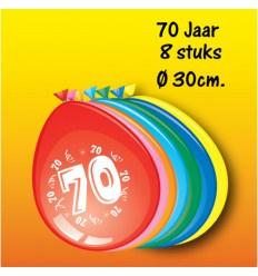 70 jaar ballonnen