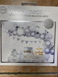 Decor ballonnen zilver pakket