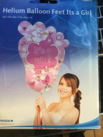 Baby girl Wordt geleverd zonder helium 70 x 102 cm