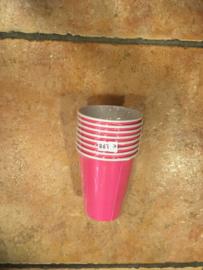 Bekers 8 stuks Candy Pink