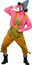 Alps Yodeler Lederhosen pants with Suspenders maat 48/50