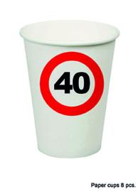40 jaar: 8 paper cups
