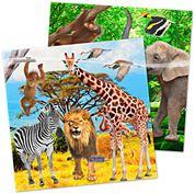 Safari servetten 33x33 20 stuks