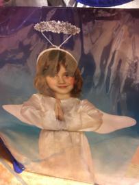 Engel Halo,dress,wings maat 7-9 jaar
